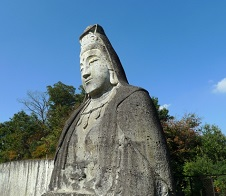 giant stone Buddha statue,Nikko Toshogu Shrine